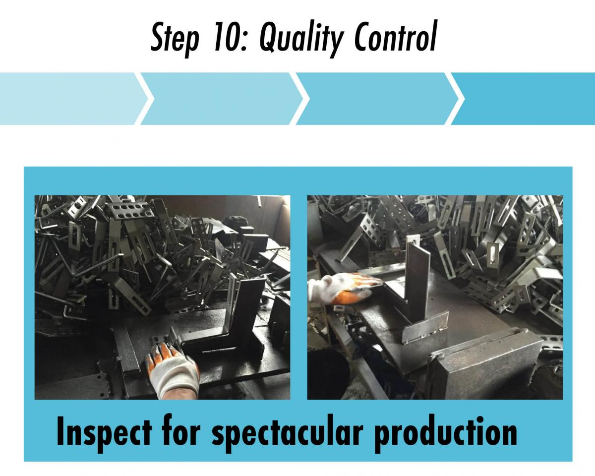 step 10 check hooks for quality control quickbolt standards