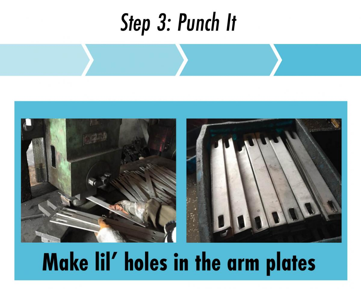 punch holes in the steel plates quickbolt hooks