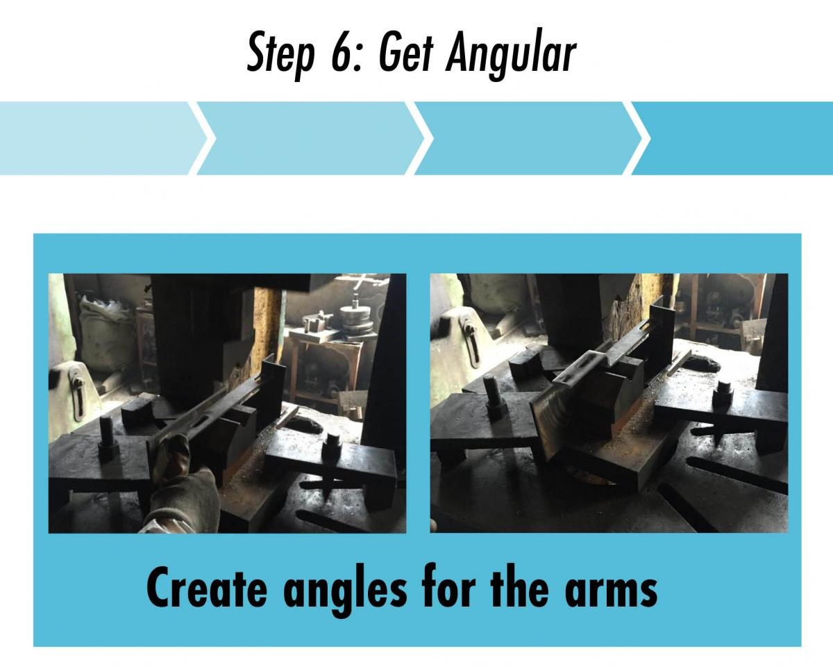 step 6 create angles in the steel plates quickbolt