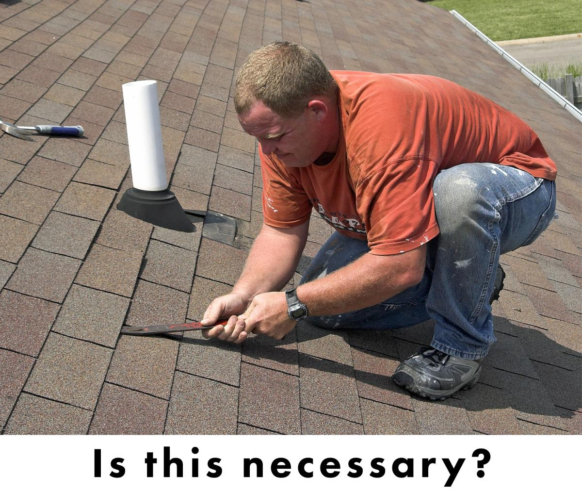 lifting shingles sucks, so is it even necessary or is there a better way? yes.
